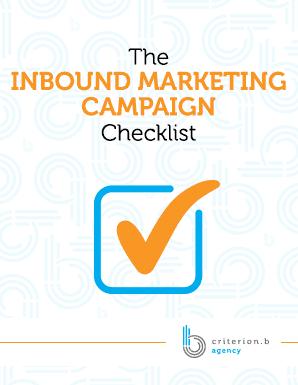 The Inbound Marketing Campaign Checklist